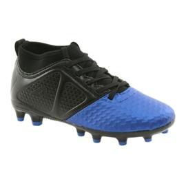 Sportowe korki chłopięce American Club OG23 Royal/Black niebieskie 1