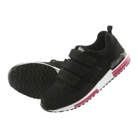 Buty sportowe wkładka skóra American Club 5 czarne 5