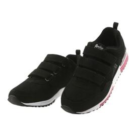 Buty sportowe wkładka skóra American Club 5 czarne 3