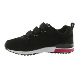 Buty sportowe wkładka skóra American Club 5 czarne 2