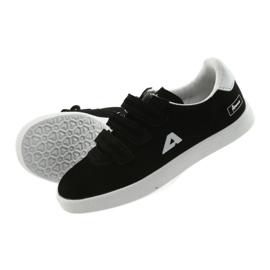 Buty Sportowe wkładka skórzana  American Club BS06 białe czarne 5