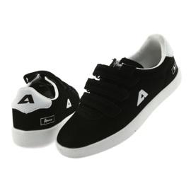 Buty Sportowe wkładka skórzana  American Club BS06 białe czarne 4