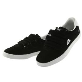 Buty Sportowe wkładka skórzana  American Club BS06 białe czarne 3