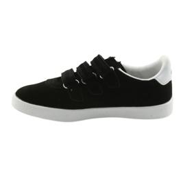 Buty Sportowe wkładka skórzana  American Club BS06 białe czarne 2