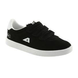Buty Sportowe wkładka skórzana  American Club BS06 białe czarne 1