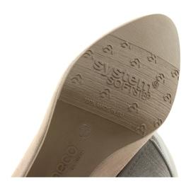 Czółenka damskie elastyczna podeszwa Arka 5137 beżowe beżowy 6