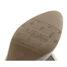 Czółenka damskie elastyczna podeszwa Arka 5137 szare 6