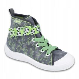 Befado obuwie dziecięce 268X070 szare zielone 1