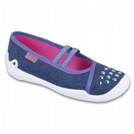 Befado obuwie dziecięce 116Y253 granatowe niebieskie 1