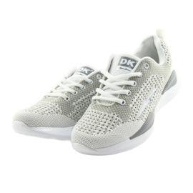 Sportowe damskie DK SA349 białe/szare 3