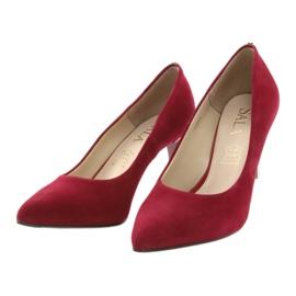 Czerwone czólenka damskie SALA 7064 3