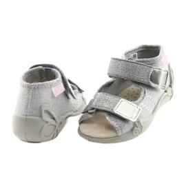 Befado obuwie dziecięce 342P002 srebrzyste szare 4