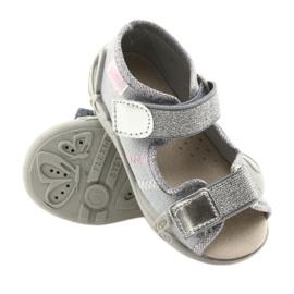 Befado obuwie dziecięce 342P002 srebrzyste szare 3