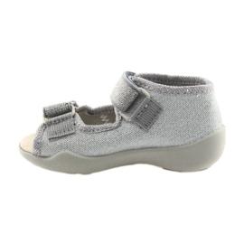 Befado obuwie dziecięce 342P002 srebrzyste szare 2