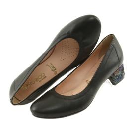Czółenka buty damskie skórzane Arka 5627 czarne 4