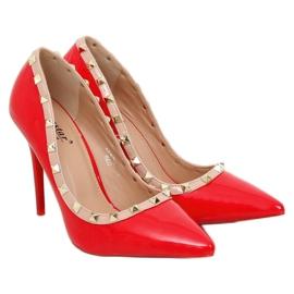 Czółenka na szpilce Valentina czerwone LL-76P Red 3