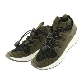 Befado obuwie dziecięce do 23 cm 516Y028 czarne zielone 3