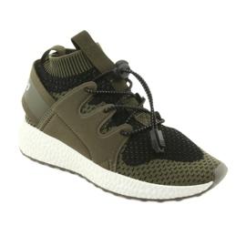 Befado obuwie dziecięce do 23 cm 516Y028 czarne zielone 1