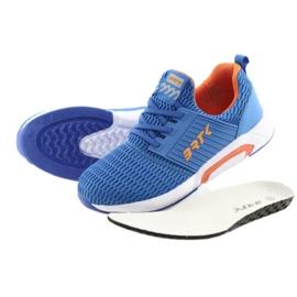 Bartek 58110 Buty sportowe wsuwane niebieskie pomarańczowe 5
