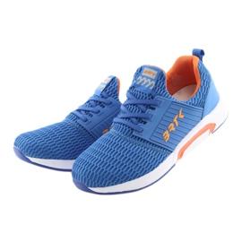 Bartek 58110 Buty sportowe wsuwane niebieskie pomarańczowe 3