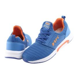 Bartek 55110 Buty sportowe wsuwane niebieskie pomarańczowe 4