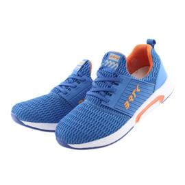 Bartek 55110 Buty sportowe wsuwane niebieskie pomarańczowe 3