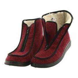 Befado obuwie damskie pu 996D005 czerwone 3