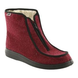 Befado obuwie damskie pu 996D005 czerwone 2