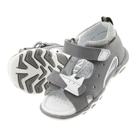 Sandałki chłopięce rzepy Bartek 51489 szare 5