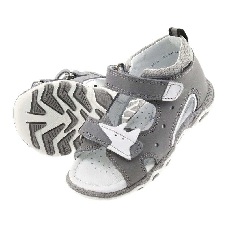 Sandałki chłopięce rzepy Bartek 51489 szare zdjęcie 5