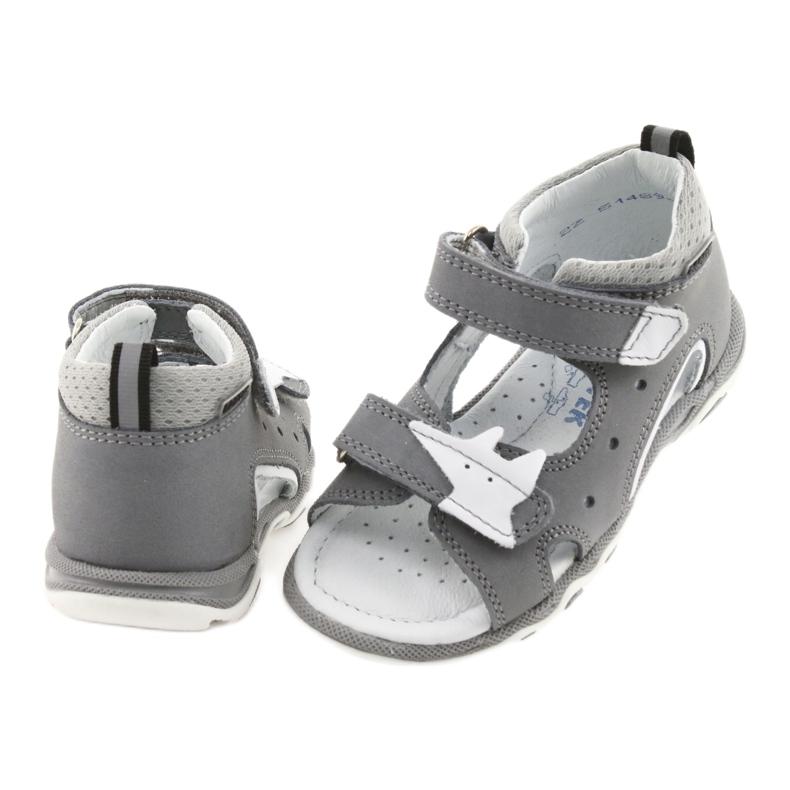 Sandałki chłopięce rzepy Bartek 51489 szare zdjęcie 4