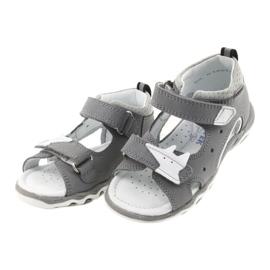 Sandałki chłopięce rzepy Bartek 51489 szare 3