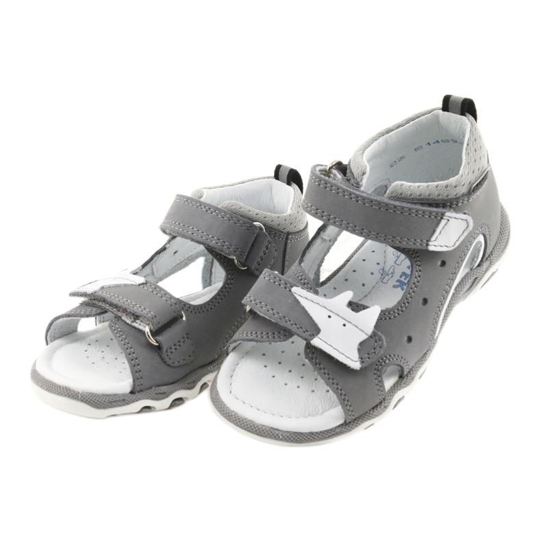 Sandałki chłopięce rzepy Bartek 51489 szare zdjęcie 3