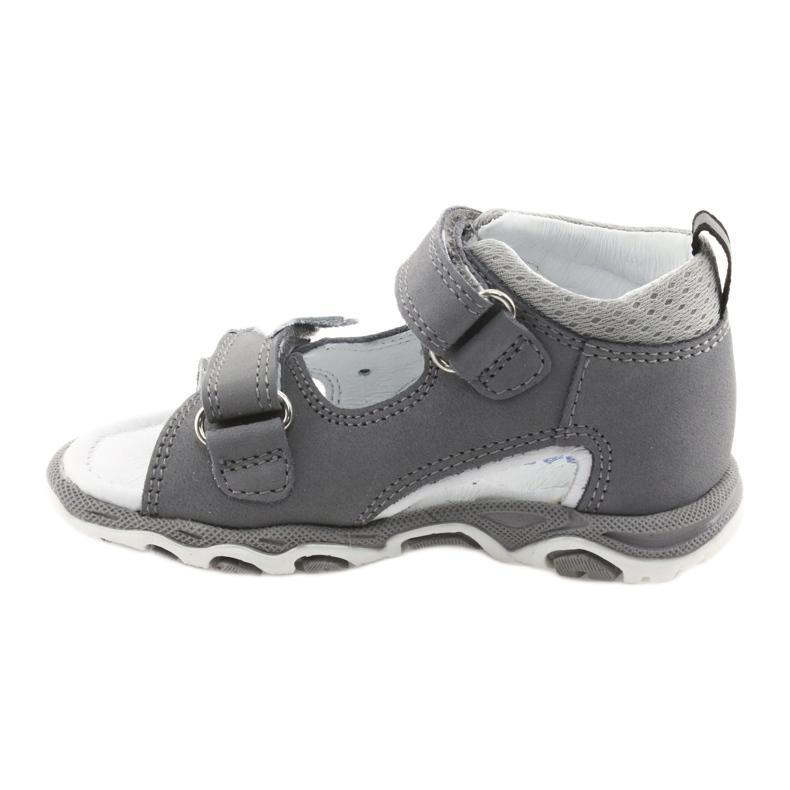Sandałki chłopięce rzepy Bartek 51489 szare zdjęcie 2