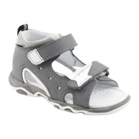 Sandałki chłopięce rzepy Bartek 51489 szare 1