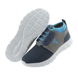 Befado obuwie dziecięce do 23 cm 516Y035 niebieskie szare granatowe 5
