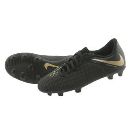 Buty piłkarskie Nike Hypervenom Phantom 3Club FG Jr AJ4146-090 czarne 5