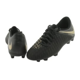 Buty piłkarskie Nike Hypervenom Phantom 3Club FG Jr AJ4146-090 czarne 4