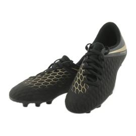 Buty piłkarskie Nike Hypervenom Phantom 3Club FG Jr AJ4146-090 czarne 3