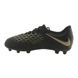 Buty piłkarskie Nike Hypervenom Phantom 3Club FG Jr AJ4146-090 czarne 2