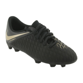 Buty piłkarskie Nike Hypervenom Phantom 3Club FG Jr AJ4146-090 czarne 1