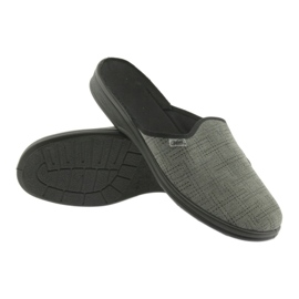 Befado obuwie męskie pu 089M410 czarne szare 4