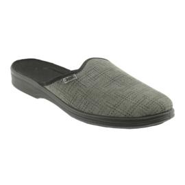 Befado obuwie męskie pu 089M410 czarne szare 2