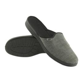 Befado obuwie męskie pu 089M410 czarne szare 3