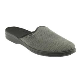 Befado obuwie męskie pu 089M410 czarne szare 1