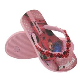 Klapki japonki biedronka Ipanema 26123 pink czarne czerwone różowe 4