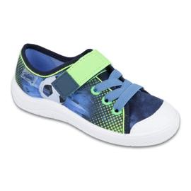 Befado obuwie dziecięce 251Y121 niebieskie zielone granatowe 1