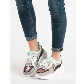Transparentne Sneakersy Na Platformie szare 2