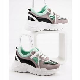 Transparentne Sneakersy Na Platformie szare 3