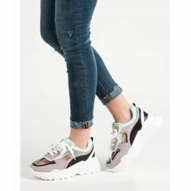 Transparentne Sneakersy Na Platformie szare 1